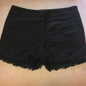 Black cut off shorts